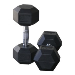 Rubber Hexagon Free Weights